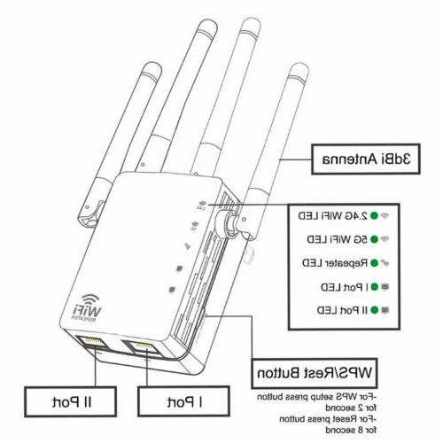 1200Mbps Repeater Signal Amplifier Router