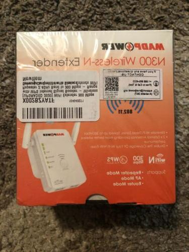 new sealed 1 madpower wifi extender 300