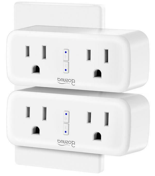 pack of 2 wifi smart plug outlet