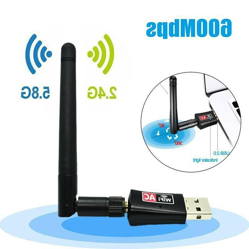 USB Adapter 600Mbps Wifi Signal Booster Antenna