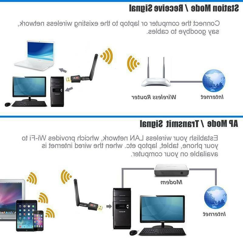 USB 600Mbps Wifi Signal Booster Antenna