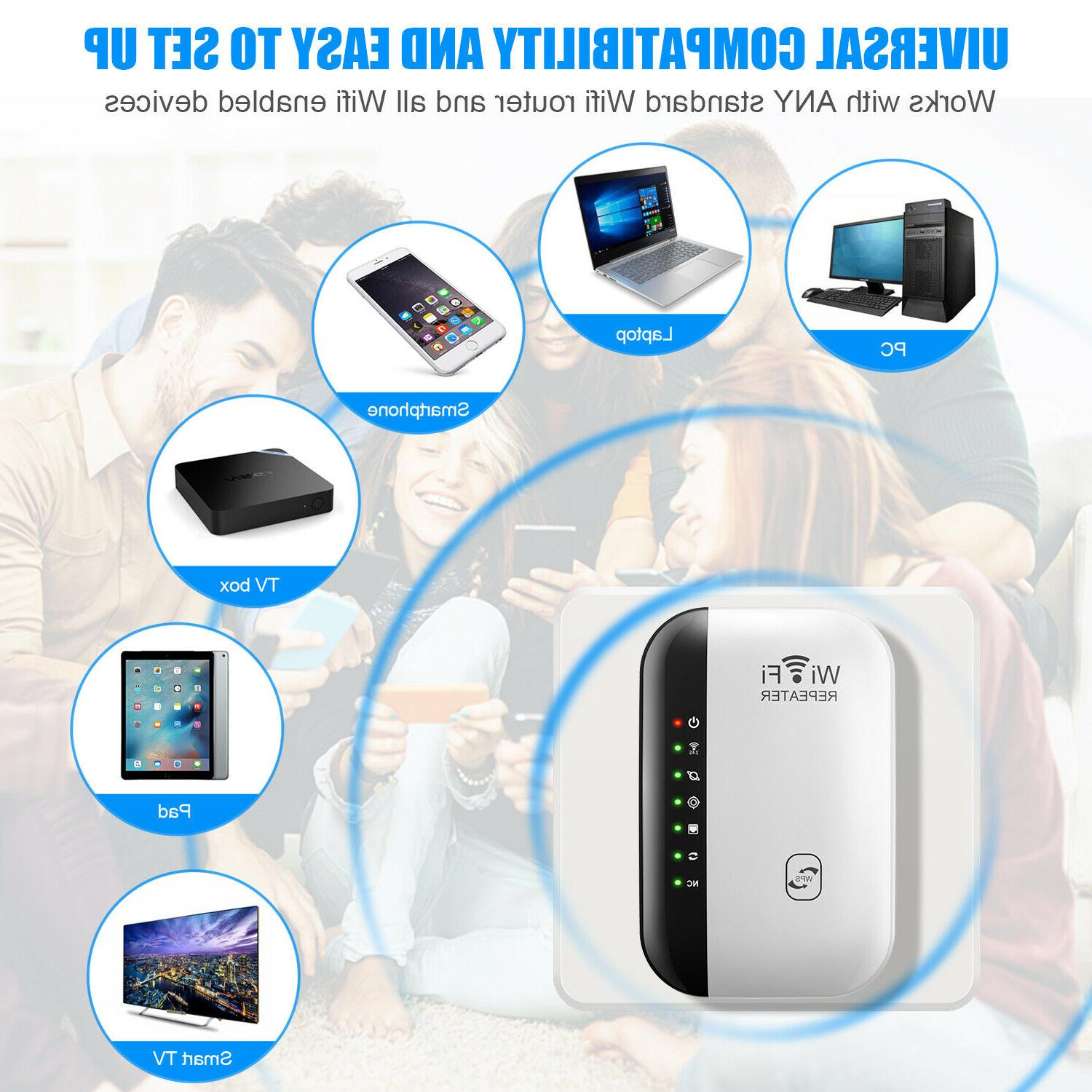 WiFi Range Extender Internet Booster Signal Repeater