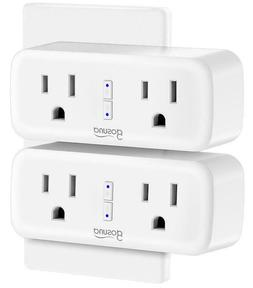 Pack of 2 Gosund Wifi Smart Plug Outlet Dual Extender Mini W